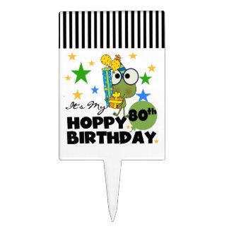 Froggie Hoppy 80th Birthday Cake Pick