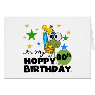 Froggie Hoppy 80th Birthday Greeting Card