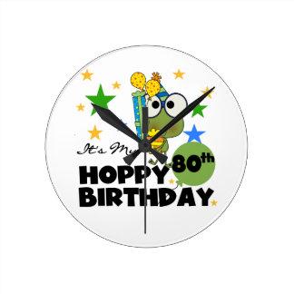 Froggie Hoppy 80th Birthday Wallclocks