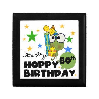 Froggie Hoppy 80th Birthday Jewelry Boxes