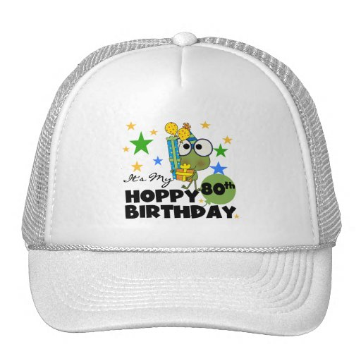 Froggie Hoppy 80th Birthday Mesh Hat