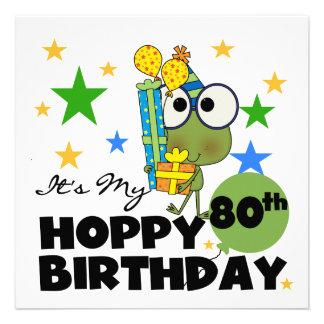 Froggie Hoppy 80th Birthday Invites
