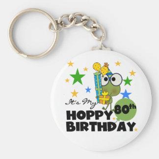 Froggie Hoppy 80th Birthday Key Chain