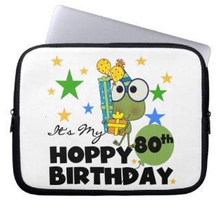 Froggie Hoppy 80th Birthday Computer Sleeves