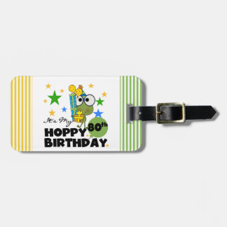 Froggie Hoppy 80th Birthday Tags For Bags