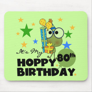 Froggie Hoppy 80th Birthday Mousepad