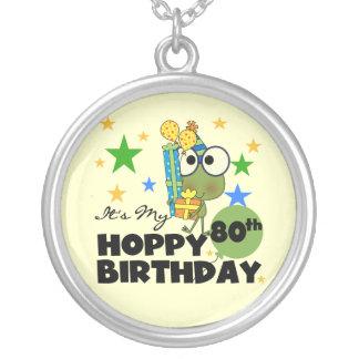 Froggie Hoppy 80th Birthday Necklaces