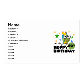 Froggie Hoppy 80th Birthday Pack Of Standard Business Cards