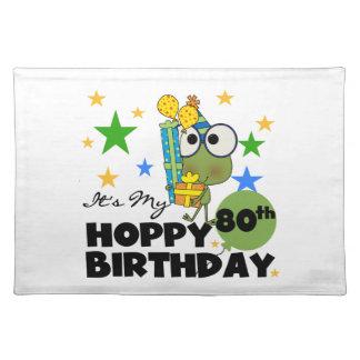 Froggie Hoppy 80th Birthday Place Mat