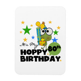 Froggie Hoppy 80th Birthday Flexible Magnet