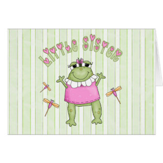 Froggie Little Sister Stationery Note Card