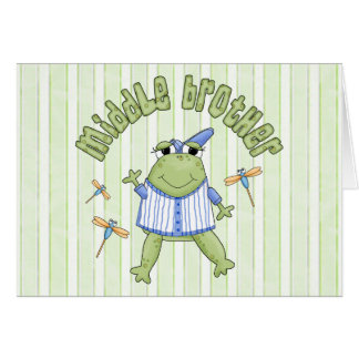 Froggie Middle Brother Stationery Note Card
