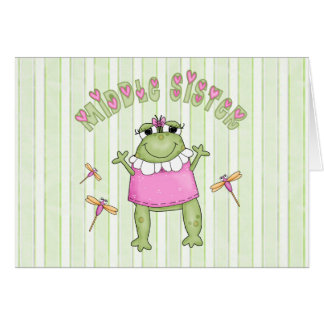 Froggie Middle Sister Note Card