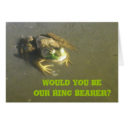 Froggie Ring Bearer Request Card