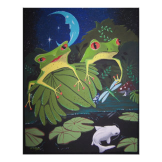 froggies and koi poster