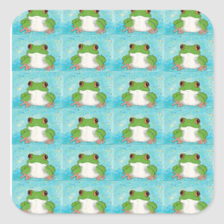 Froggies Square Sticker