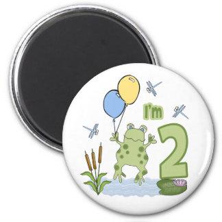 Froggy 2nd Birthday Fridge Magnet