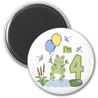 Froggy 4th Birthday Fridge Magnets