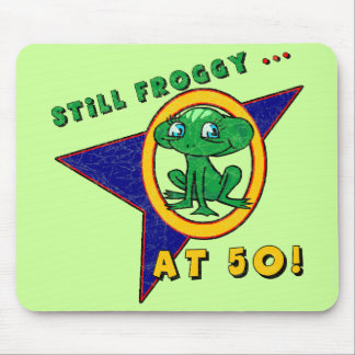 Froggy 50th Birthday Mousepad
