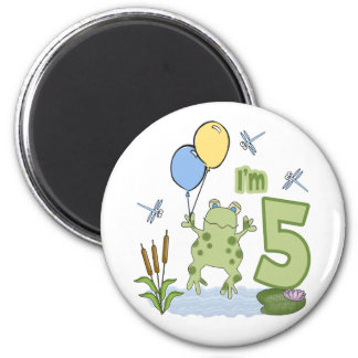 Froggy 5th Birthday Fridge Magnets