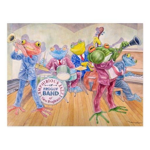 """Froggy Band"" Postcard"
