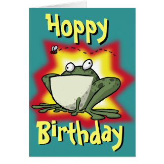 Froggy Birthday Card