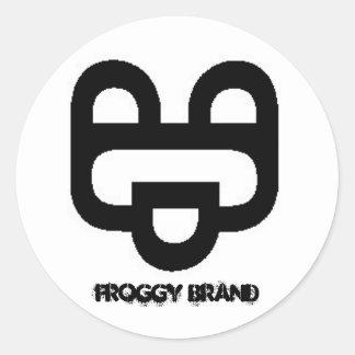 Froggy Brand Round Sticker