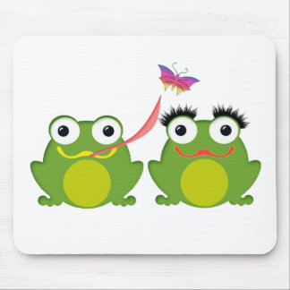 Froggy Couple Mouse Pad