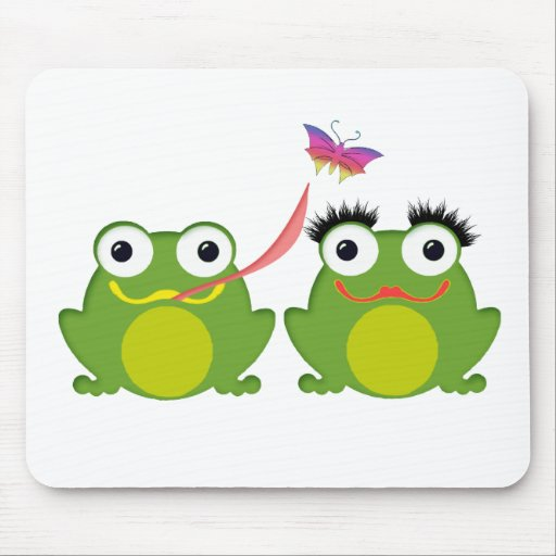 Froggy Couple Mouse Pads