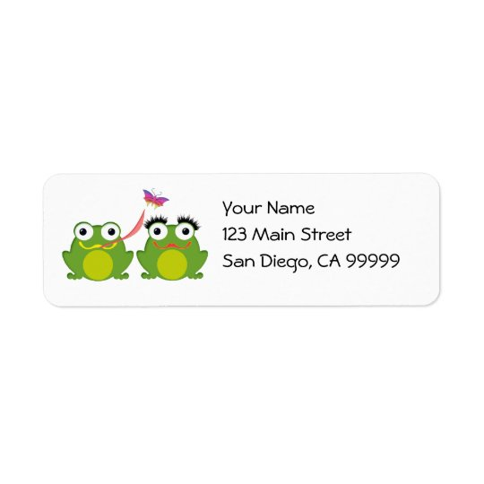 Froggy Couple Return Address Label