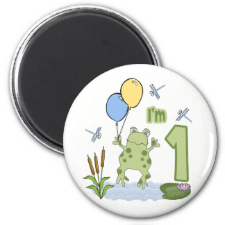 Froggy First Birthday Magnet