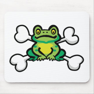 froggy frog Skull and Crossbones Mouse Mat