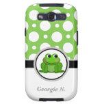 Froggy Green Polka Dot Samsung Galaxy S3 Case