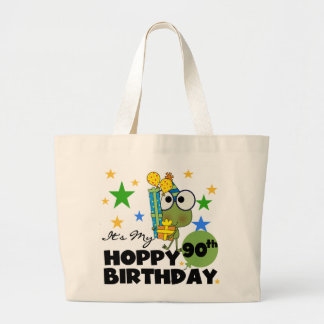 Froggy Hoppy 90th Birthday Large Tote Bag