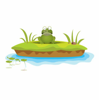 Froggy Island Photo Sculpture Magnet