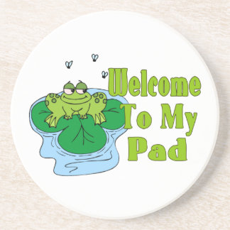 Froggy Says Welcome To My Pad Coaster