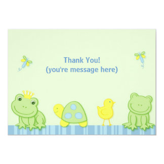 Froggy Tales Frog Flat Thank You Note Cards 13 Cm X 18 Cm Invitation Card