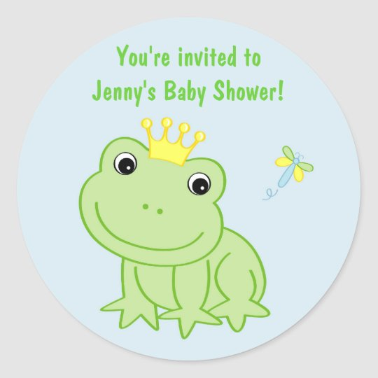Froggy Tales Frog Shower Stickers Envelope Seals