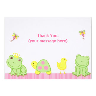 Froggy Tales Frog Thank You Note Cards 13 Cm X 18 Cm Invitation Card