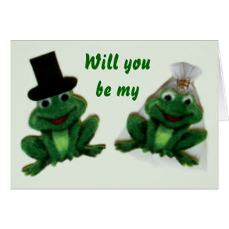 Froggy Wedding - Attendant Request Greeting Card