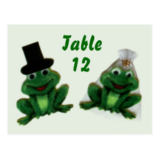 Froggy Wedding - Table Number Postcard