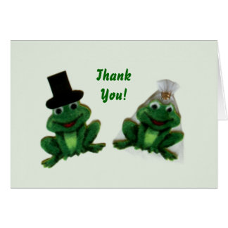 Froggy Wedding Thank You Notes Note Card