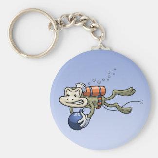 Frogman Basic Round Button Key Ring