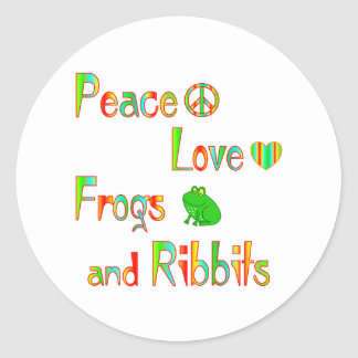 Frogs and Ribbits Round Sticker
