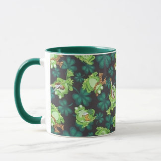 Frogs and Shamrocks Mug