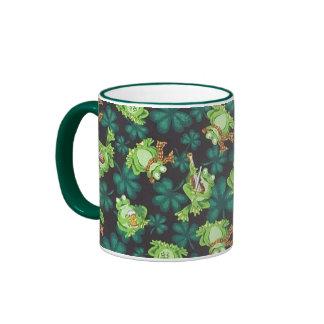 Frogs and Shamrocks Ringer Mug