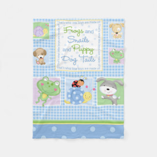 Frogs and Snails Baby Blanket