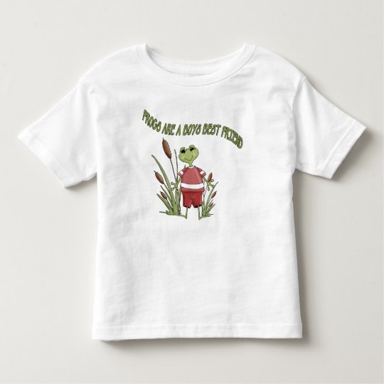 Frogs Are a Boys Best Friend Toddler T-Shirt