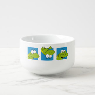 Frogs blue Soup Mug
