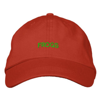 FROGS EMBROIDERED HAT